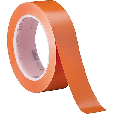 3M™ 1in. x 36 yds. Solid Vinyl Safety Tape 471, Orange, 3/Pack