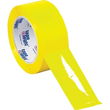Tape Logic™ 3in. x 55 yds. Yellow Carton Sealing Tape, 6/Pack