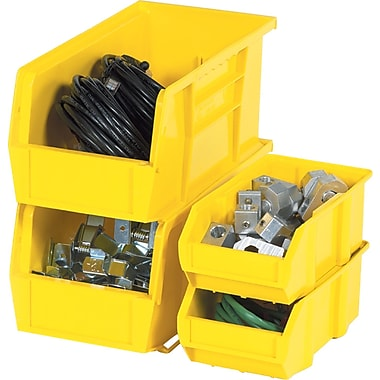 BOX 14 3/4in. x 5 1/2in. x 5in. Plastic Stack and Hang Bin Box, Yellow