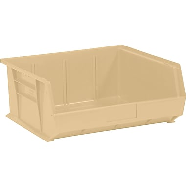 BOX 14 3/4in. x 16 1/2in. x 7in. Plastic Stack and Hang Bin Box, Ivory