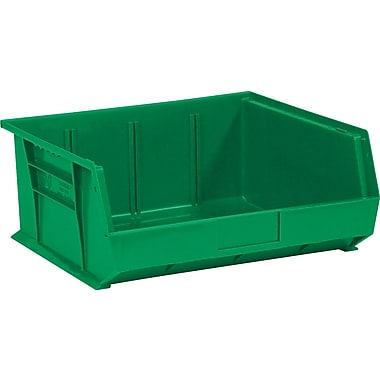 BOX 14 3/4in. x 16 1/2in. x 7in. Plastic Stack and Hang Bin Box, Green