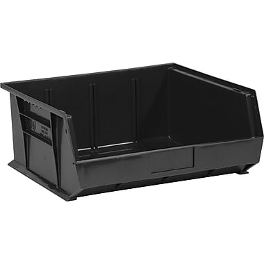 BOX 14 3/4in. x 16 1/2in. x 7in. Plastic Stack and Hang Bin Box, Black