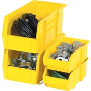 "BOX 10 7/8"" x 4 1/8"" x 4"" Plastic Stack and Hang Bin Box, Yellow"