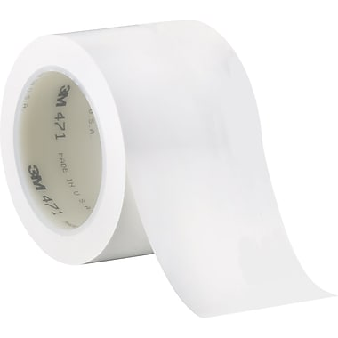 3M™ 3in. x 36 yds. Solid Vinyl Safety Tape 471, White, 3/Pack