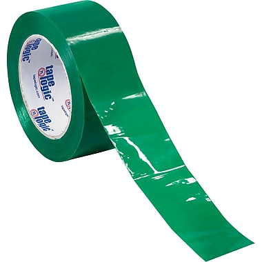 Tape Logic™ 3in. x 55 yds. Green Carton Sealing Tape, 6/Pack