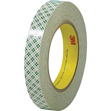 3M™ 1/2in. x 36 yds. Double Sided Masking Tape 410M, Natural, 3 Rolls