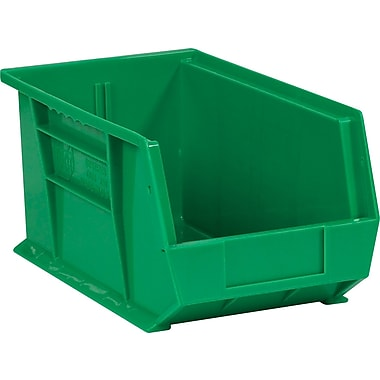 BOX 14 3/4in. x 8 1/4in. x 7in. Plastic Stack and Hang Bin Box, Green