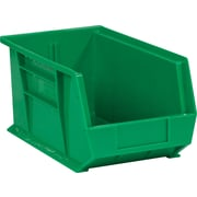 "BOX 14 3/4"" x 8 1/4"" x 7"" Plastic Stack and Hang Bin Box, Green"