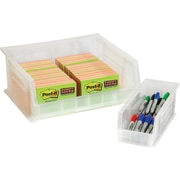 "BOX 14 3/4"" x 8 1/4"" x 7"" Plastic Stack and Hang Bin Box, Clear"