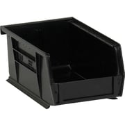 "BOX 14 3/4"" x 8 1/4"" x 7"" Plastic Stack and Hang Bin Box, Black"