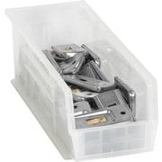 BOX 14 3/4 x 5 1/2 x 5 Plastic Stack and Hang Bin Box, Clear