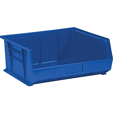 BOX 14 3/4in. x 16 1/2in. x 7in. Plastic Stack and Hang Bin Box, Blue