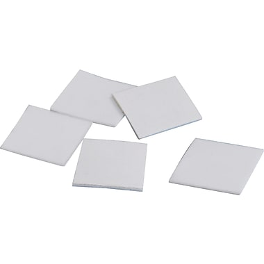 Tape Logic™ 1in. x 1in. Double Coated Foam Square, White, 648/Roll