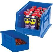 "BOX 10 7/8"" x 4 1/8"" x 4"" Plastic Stack and Hang Bin Box, Blue"