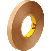 3M™ 1/2 x 72 yds. Double Coated Film Tape 9425, Clear, 18/Case