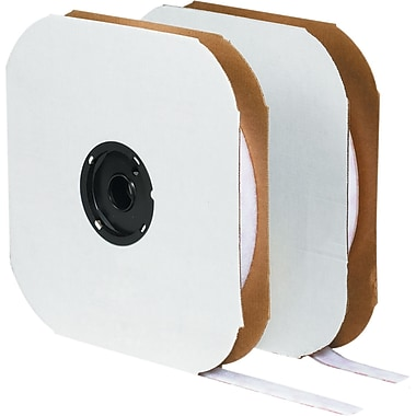 Velcro® 1/2in. x 75' Individual Strips Velcro Tape, Loop, White
