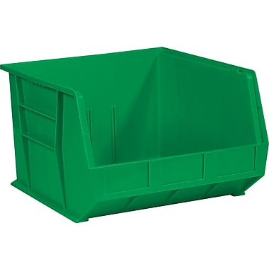 BOX 18in. x 16 1/2in. x 11in. Plastic Stack and Hang Bin Box, Green