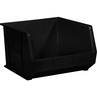 BOX 18in. x 16 1/2in. x 11in. Plastic Stack and Hang Bin Box, Black