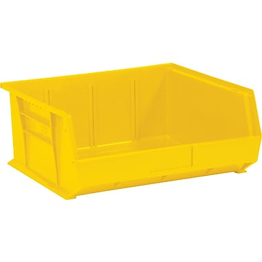 BOX 10 7/8in. x 11in. x 5in. Plastic Stack and Hang Bin Box, Yellow