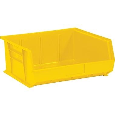 BOX 10 7/8in. x 11in. x 5in. Plastic Stack and Hang Bin Box, Yellow