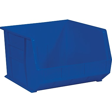 BOX 18in. x 16 1/2in. x 11in. Plastic Stack and Hang Bin Box, Blue