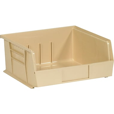 BOX 10 7/8in. x 11in. x 5in. Plastic Stack and Hang Bin Box, Ivory