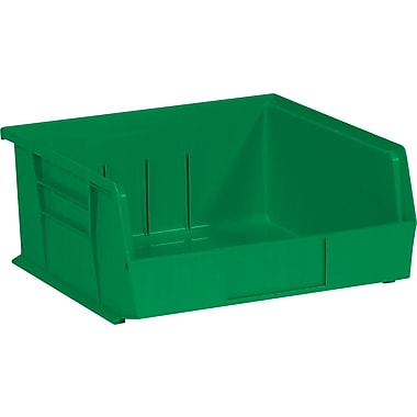 BOX 10 7/8in. x 11in. x 5in. Plastic Stack and Hang Bin Box, Green