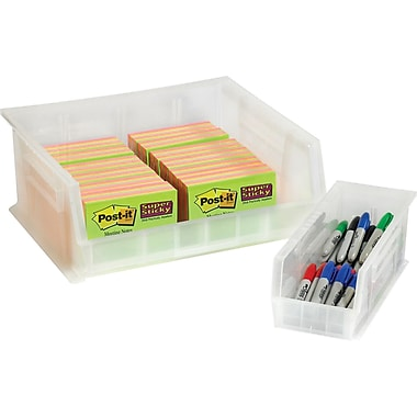 BOX 10 7/8in. x 11in. x 5in. Plastic Stack and Hang Bin Box, Clear