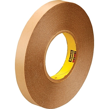 3M™ 1in. x 72 yds. Double Coated Film Tape 9425, Clear, 9/Case