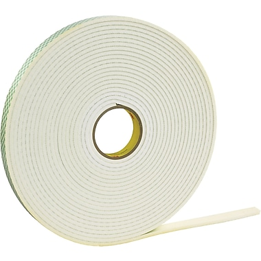 3M™ 1/2in. x 72 yds. Double Coated Polyethylene Foam Tape 4462, White, 1/Pack