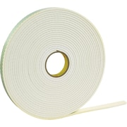 "3M™ 1/2"" x 36 yds. Double Coated Foam Tape 4466, White, 1/Pack"