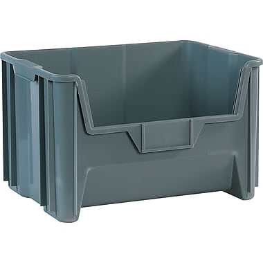 BOX 19 7/8in. x 15 1/4in. x 12 7/16in. Giant Stackable Bin, Gray