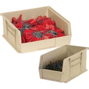 "BOX 18"" x 8 1/4"" x 9"" Plastic Stack and Hang Bin Box, Ivory"