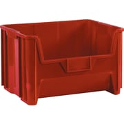 "BOX 18"" x 16 1/2"" x 11"" Plastic Stack and Hang Bin Box, Red"