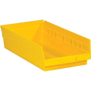 BOX 17 7/8in. x 11 1/8in. x 4in. Plastic Shelf Bin Box, Yellow
