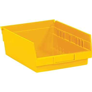BOX 11 5/8in. x 11 1/8in. x 4in. Plastic Shelf Bin Box, Yellow