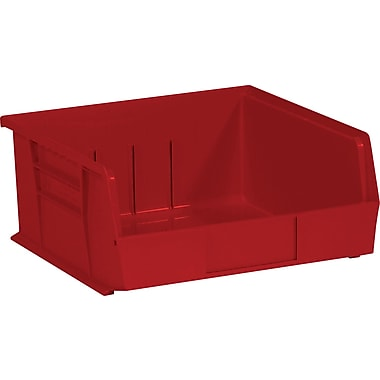 BOX 10 7/8in. x 11in. x 5in. Plastic Stack and Hang Bin Box, Red