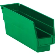 "BOX 11 5/8"" x 2 3/4"" x 4"" Plastic Shelf Bin Box, Green"