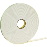 3M™ 1 x 72 yds. Double Coated Polyethylene Foam Tape 4462, White, 1/Pack