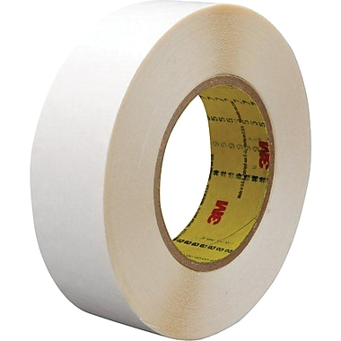 3M™ 1in. x 36 yds. Double Coated Film Tape 9579, White, 2/Pack