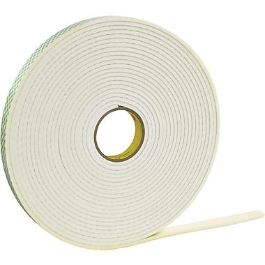 3M™ 1in. x 36 yds. Double Coated Foam Tape 4466, White