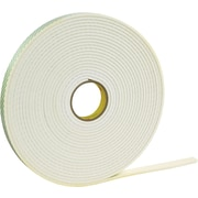 3M™ 1 x 36 yds. Double Coated Foam Tape 4466, White, 1/Pack
