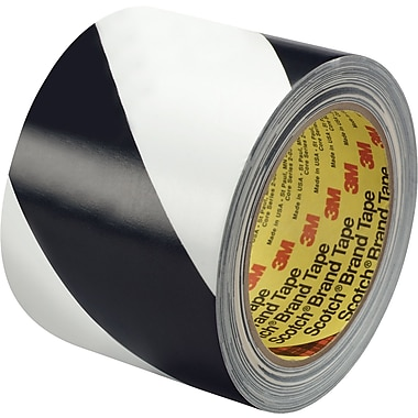3M™ 3in. x 36 yds. Striped Vinyl Tape 5700, Black/White