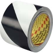 "3M™ 5700 Striped Vinyl Tape, 3"" x 36 yds., Black/White, 12/Case"