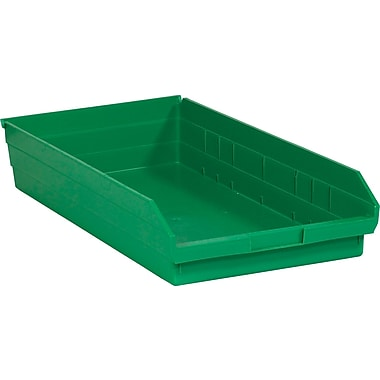 BOX 23 5/8in. x 11 1/8in. x 4in. Plastic Shelf Bin Box, Green
