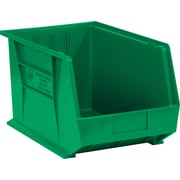 "BOX 18"" x 11"" x 10"" Plastic Stack and Hang Bin Box, Green"