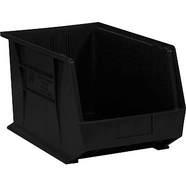 BOX 18in. x 11in. x 10in. Plastic Stack and Hang Bin Box, Black
