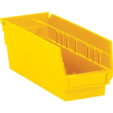 BOX 11 5/8in. x 4 1/8in. x 4in. Plastic Shelf Bin Box, Yellow