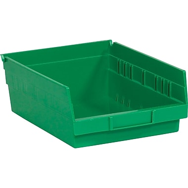 BOX 11 5/8in. x 11 1/8in. x 4in. Plastic Shelf Bin Box, Green