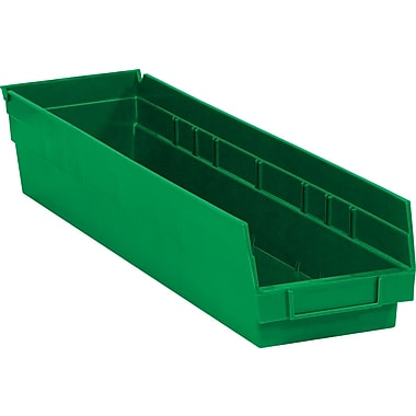 BOX 23 5/8in. x 4 1/8in. x 4in. Plastic Shelf Bin Box, Green